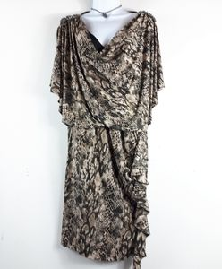 R&M Richards Snake Print Elegant Dress